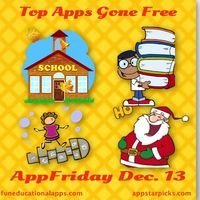 Looks like another amazing AppFriday for December 13h …. Over 30 top apps for kids gone FREE including some TOP PICKS. To help you find yo...