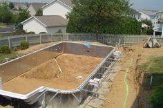 saltwater above ground pool looks in ground | Inground Vinyl Pool Photos - Pools & Spas Forum - GardenWeb