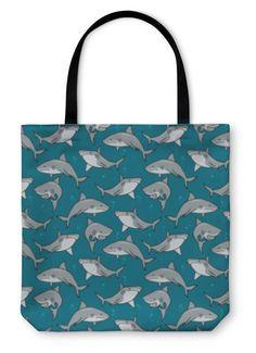 Tote Bag, Cartoon Sharks Christian Companies, African Attire For Men, Abstract Geometric Art, Art Deco Pattern, Tote Pattern, Custom Art, Sharks, Beach Towel, Travel Bag