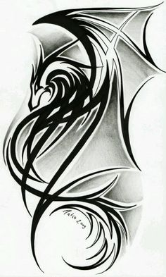 Tribal dragon | Tribal art | Pinterest | Dragon, Art and Love