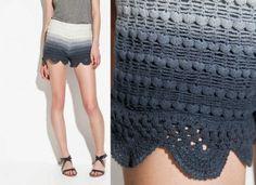 25 Ravishing Pairs of Crochet Shorts | Crochet Shorts Pattern, Crochet Pants, Crochet Skirts, Crochet Clothes, Beach Crochet, Crochet Bikini Top, Cute Crochet, Knit Crochet, Crochet Ideas