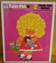 Vintage/Retro Whitman Twin-Pak 2 Frame Tray Puzzles - Made in USA 1978  Wall Art