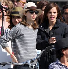 Sofia coppola and emma watson on the set of the bling ring in venice