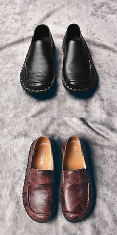 Prelesty Genuine Leather Shoes Men Loafers Slip On Formal Driving Soft Footwear High Quality Loafers For Women Outfit, Loafers Outfit, Loafers Men, Style Masculin, Slip On Dress Shoes, Beautiful Sandals, Business Shoes, Fashion Boots, Mens Fashion