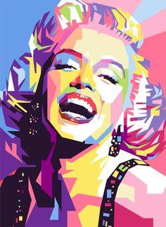 Marylin Monroe WPAP by iwanuwun on deviantART | This image first pinned to Marilyn Monroe Art board, here: http://pinterest.com/fairbanksgrafix/marilyn-monroe-art/ || #Art #MarilynMonroe