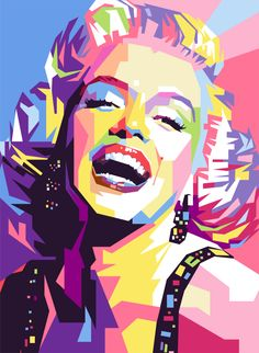 Marylin Monroe WPAP by iwanuwun on deviantART | This image first pinned to Marilyn Monroe Art board, here: http://pinterest.com/fairbanksgrafix/marilyn-monroe-art/ || #Art #MarilynMonroe