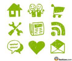Free Icons: Hand Drawn Web Icons  http://www.fasticon.com/free-icons-hand-drawn-web-icons/