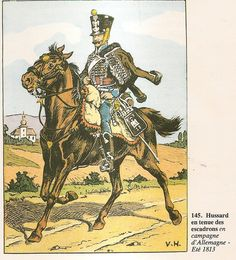 French; 13th Hussars, Elite Company, Hussar, Tenue d'Escadron, German campaign, Summer 1813