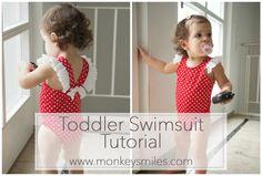 Toddler Swimsuit Tutorial monkeysmiles