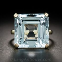 Vintage Aquamarine Solitaire Cocktail Ring