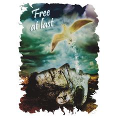 """""""Free at Last"""" T-shirts and Lush clothing now available in a variety of size and color from Andy King Art's RedBubble Store!!"""