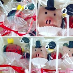 Silvester Cake Pops: ein süßer Start ins neue Jahr! Cake Pop Schwein mit Zylinder und Marienkäfer mit Krone! Happy New Year!