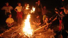 Israeli children gather around a bonfire on the Jewish holiday of Lag Ba'Omer, in Jerusalem. Lag Ba'Omer commemorates the death of Rabbi Shimon Bar Yochai, one of the most important sages in Jewish history 1,800 years ago. The most well-known custom of Lag Ba'Omer is the lighting of bonfires throughout Israel and in Jewish communities worldwide. (Photo credit: Yossi Zamir/Flash 90)