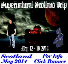Supernatural Scotland Investigation & TOur! Join Darkness Radio's Dave Schrader this May 2014 for an adventure of a Lifetime. Visit haunted castles, hotels, cemeteries and more. Breakfast & Dinner included each day, tour bus with interactive tour guide and access o amazing sites including Lock Ness!
