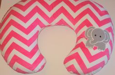 Boppy Cover, Boppy Slipcover, Boppy Pillow Cover, Nursing Pillow Cover, Elephant, Chevron Minky, 5 Colors, Baby Gift, Can Add Personalizing