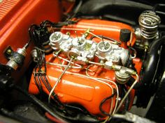 """model car engine detailing   am I on the right track"""" w/ engine detailing!"""
