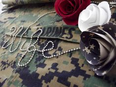I am a proud marine wife I figured the idea for the love would be kind of cool for wife as well...Along with paper flowers  I made....  Military/marines/usmc/photography by Zhanna