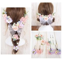 Wedding Hair Flowers, Wedding Hair Pieces, Hair Arrange, Hair Ornaments, Disney Art, Bridal Hair, Hair Inspiration, Wedding Hairstyles, Balloons