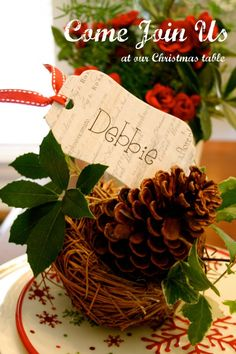 Holiday nameplate ideas