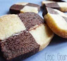 Recette - Damiers choco-vanille - Notée 4/5 par les internautes