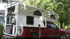 Home built DIY popup truck camper. Nice build series. I like how the back end extends out over the back end of the tail gate, allowing the tail gate to stay attached and functional.