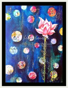 the Colour Press: Abstract lotus canvas / painting Lotus, Folk, Give It To Me, Challenge, Paper Crafts, Colour, Abstract, Canvas, Painting