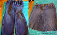 Shabby Soul: Jeans to Skirt Tutorial