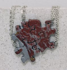 Puzzle Necklace Friendship Jewelry Set of 4 by GirlwithaFrogTattoo