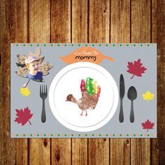 Thanksgiving Placemat - DIGITAL - Instant and Custom - Holiday Craft for Kids - by SporterDesigns on Etsy Thanksgiving Placemats, Thanksgiving Crafts For Toddlers, Thanksgiving Crafts For Kids, Fall Toddler Crafts, Baby Fall Crafts, Kids Holiday Crafts, Autumn Crafts For Kids, Kindergarten Thanksgiving Crafts, November Thanksgiving