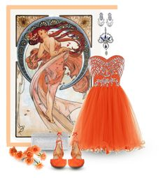 """Alfons Mucha: Dance"" by giovanina-001 ❤ liked on Polyvore featuring NOVICA, Jimmy Choo and Aquazzura"