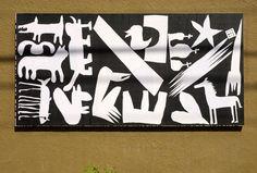 "ESH Gruppa, Ficciones Typografika 1441-1443 (72""x36""). Installed on May 26, 2017. More: http://ficciones-typografika.tumblr.com/ Minneapolis greets Moscow for Typomania Festival 2017."