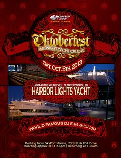 Saturday, October 5th Midnight Cruise