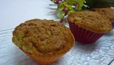 Muffins délicieux à la rhubarbe