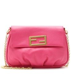 Fendi - FENDISTA MINI LEATHER SHOULDER BAG