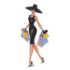 Shopping Spree Mrs. Hines ❤ liked on Polyvore featuring sketches, drawings, illustrations, fillers and backgrounds