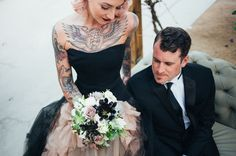 Love this couple + wedding portrait