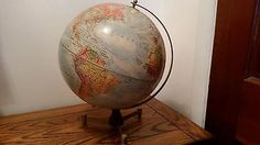 """Vintage Replogle Meredith Corp WORLD NATION SERIES 12"""" Globe Trucial States"""