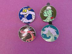 Disney trading pin lot of 4 2015 dragon circles Mushu Elliot Figment Mimm