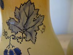 2 hand-painted French vases and labeled Leg (Legras) ca. 1910-1920!