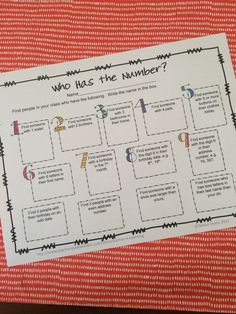 FREEBIE - Back to School Number Hunt- great getting to know you activity for the start of the school year!
