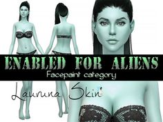 Sims 4 CC's - The Best: Lauruna Skin Enabled for Aliens by Ms Blue