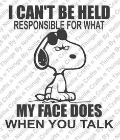 Responsible- Snoopy SVG by CraftsnThingsByNelly on Etsy