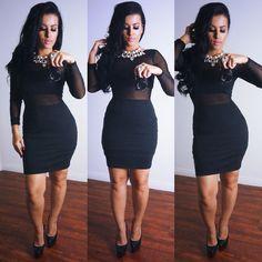 #ShareIG Little black dress for little ol' me @hotmiamistyles #ihatetheselouboutins #mostuncomfortableshoeever