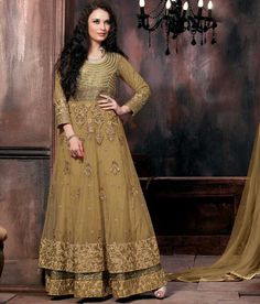 Buy salwar suit and salwar kameez. Buy this net embroidered, patch border and zari work floor length anarkali salwar suit. Robe Anarkali, Long Anarkali Gown, Costumes Anarkali, Floor Length Anarkali, Lehenga Suit, Net Lehenga, Lehenga Choli, Latest Anarkali Suits, Wedding Salwar Kameez