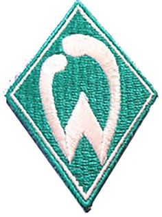 "Amazon.com: [Single Count] Custom and Unique (1 3/4"" 4.5 cm x 2 5/8"" 6.5 cm) ""Biker"" Werder Bremen German Footfall Club Design Iron & Stick On Adhesive Embroidered Applique Patch {Teal & White}"