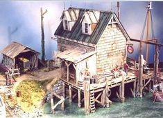 Railroad Line Forums - Dave Revelia's Boat Repair Diorama Planet Coaster, Model Building, Building Ideas, Model Train Layouts, Nautical Home, Miniature Houses, Model Homes, Model Trains, Architecture