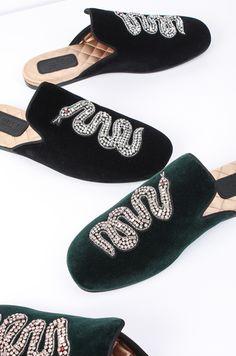 Gucci Velvet loafer mules