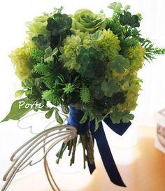 藍色のリボンを結んで・・・ミ二クラッチブーケ |Wedding Flower・ぽると のブログ
