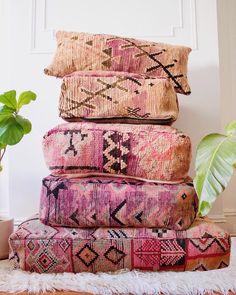Moroccan floor pillows Boho in Brooklyn - Moroccan Decor - Moroccan Decor Living Room, Moroccan Home Decor, Moroccan Interiors, Moroccan Style, Living Room Decor, Moroccan Furniture, Moroccan Bedroom, Moroccan Lanterns, Billy Regal