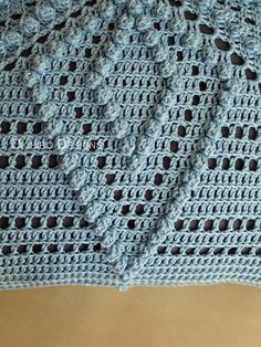 Patrón de borraja 12 Crochet cuadrados almohada listo para